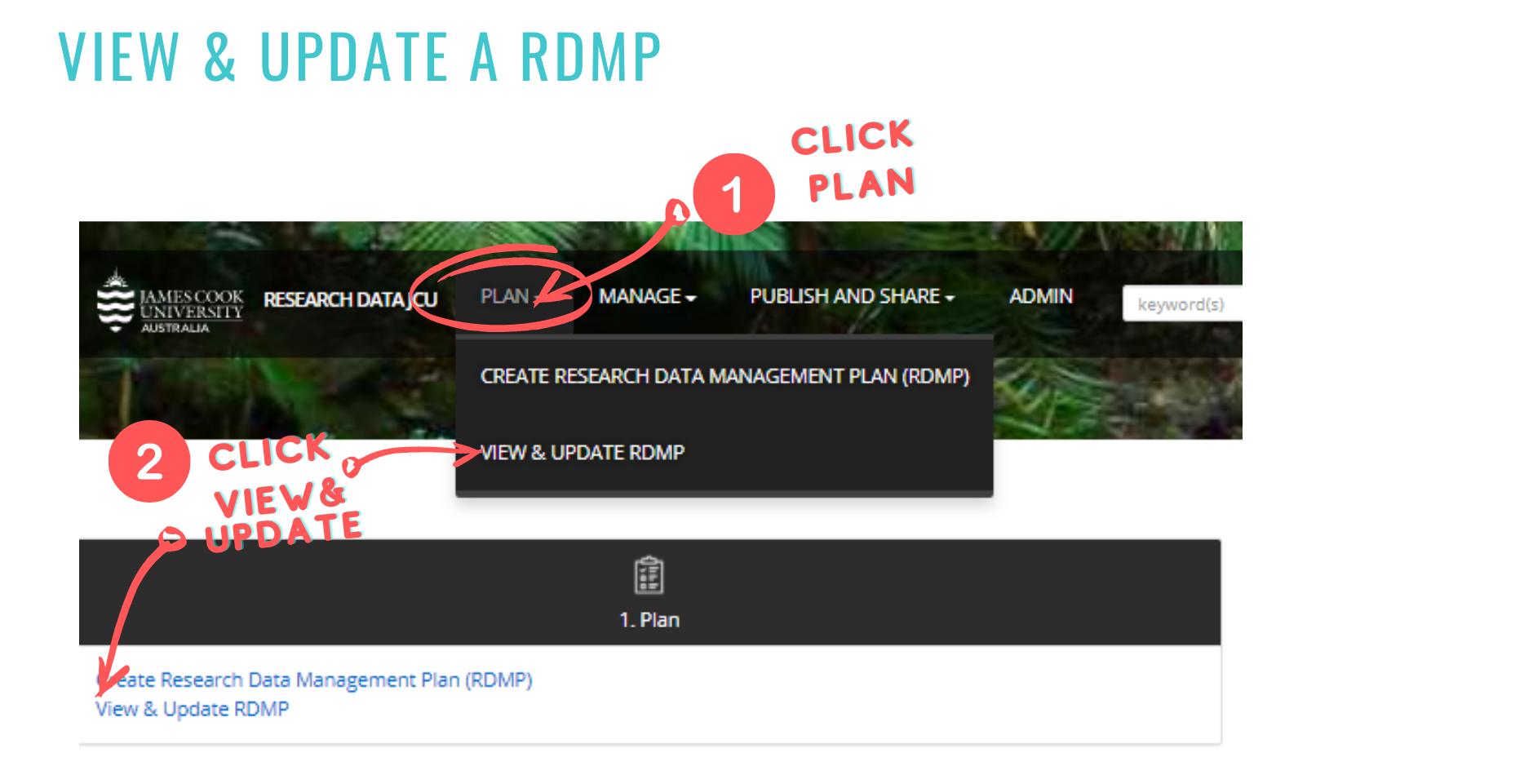 update RDMP to create Data Record screenshot