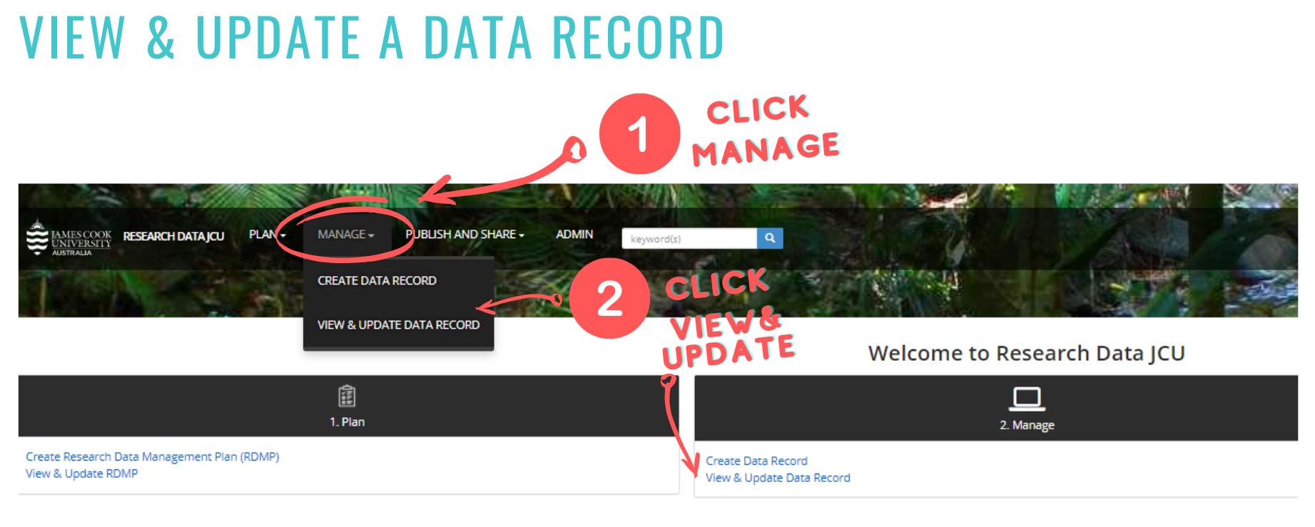 update Data Record screenshot