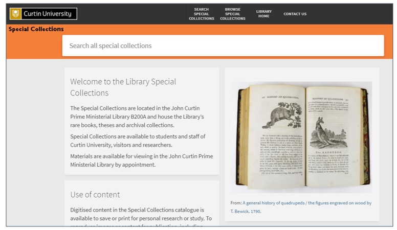 JCPML special collections catalogue