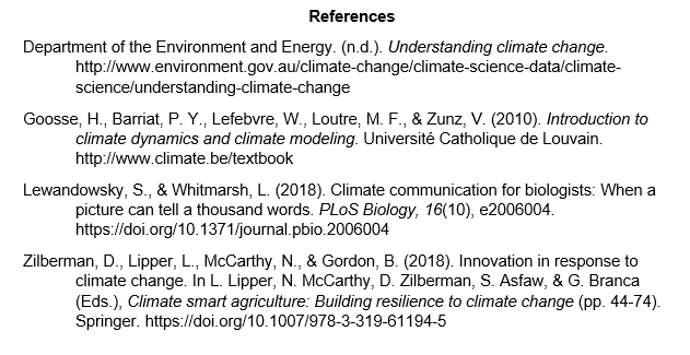 example of apa citation reference list