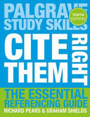Book cover: Cite them right : the essential referencing guide