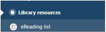 The library resource link in the unit menu