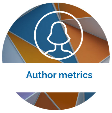 landing page image with the words Author metrics