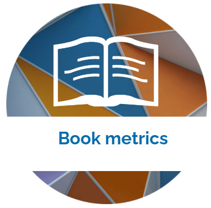 landing page image with the words Book metrics