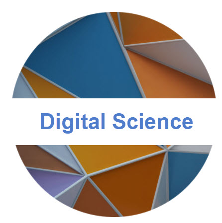 Landing page image and hyperlink with the words Digital Science