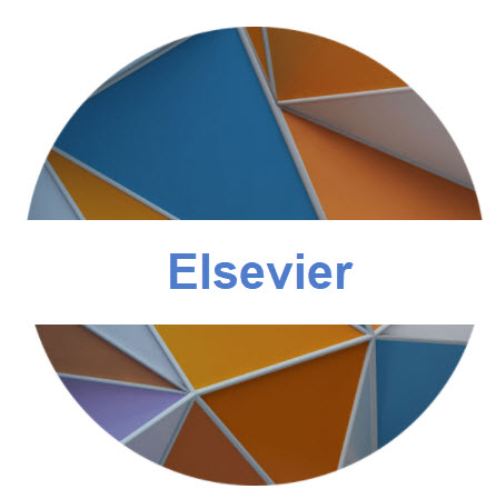 Landing page image and hyperlink with the word Elsevier