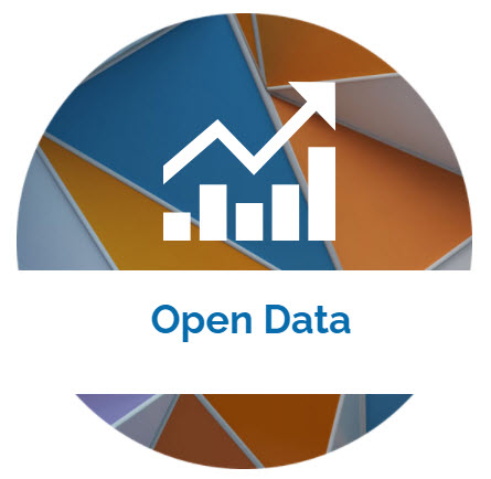 landing page image with the words Open Data