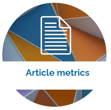 landing page image with the words Article metrics