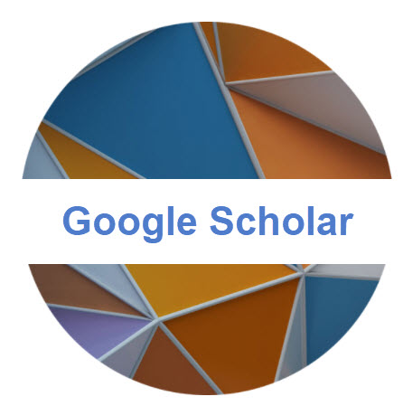 Landing page image and hyperlink with the words Google Scholar