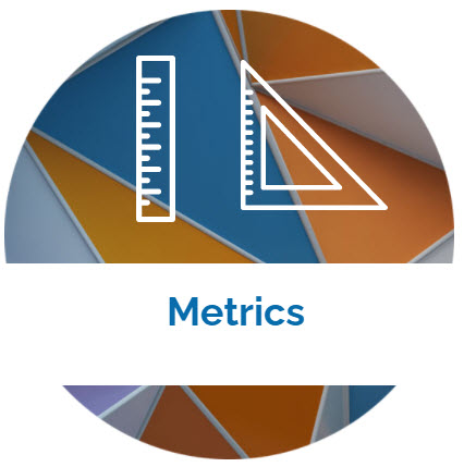 landing page image with the word Metrics