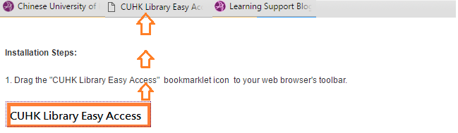 Easy Access Bookmarklet Icon on the Browser's Toolbar