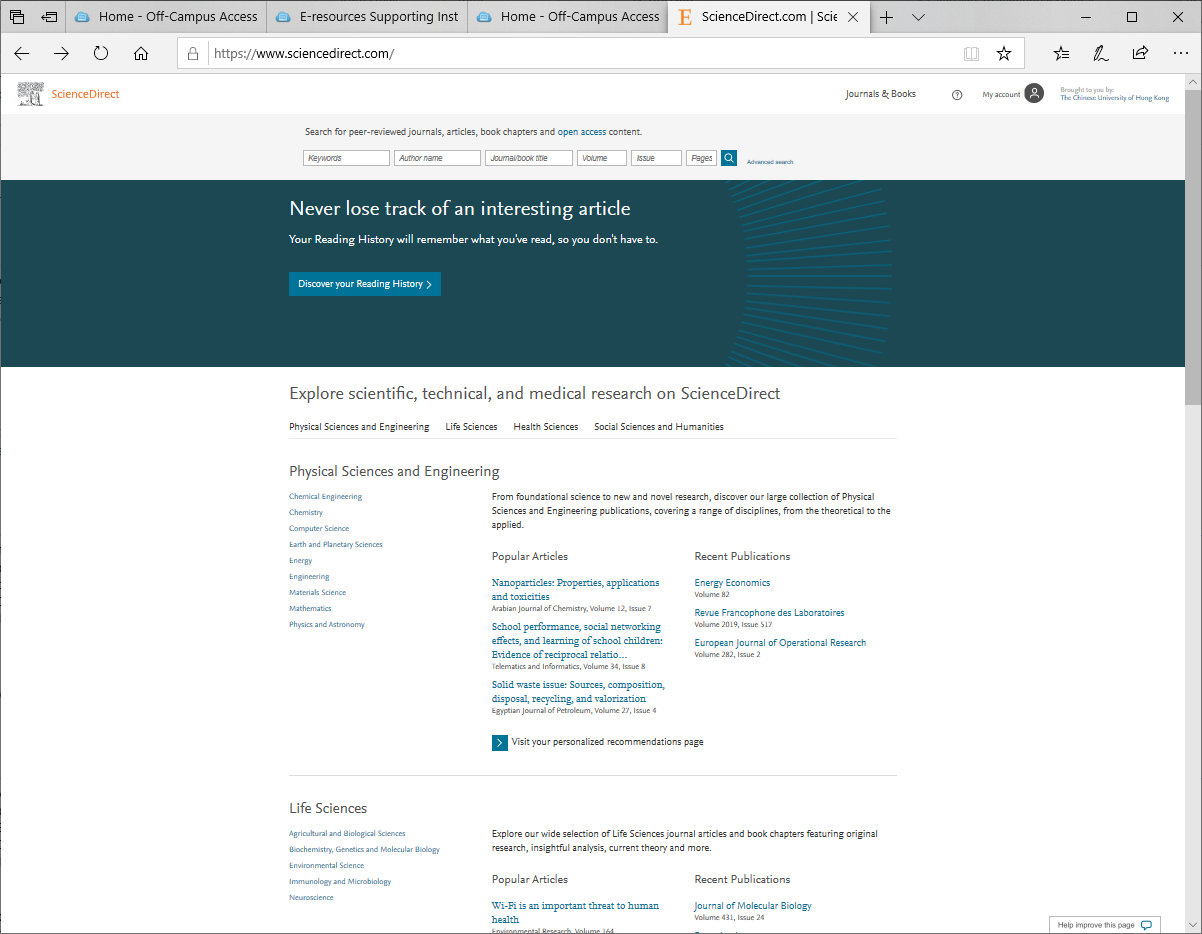 ScienceDirect Full text materials