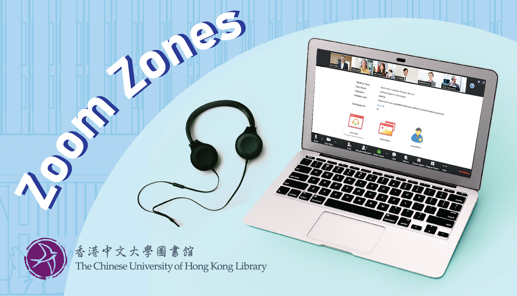 Zoom Zones in the CUHK Library