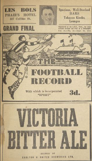 Football record grand final Richmond and Fitzroy 1944