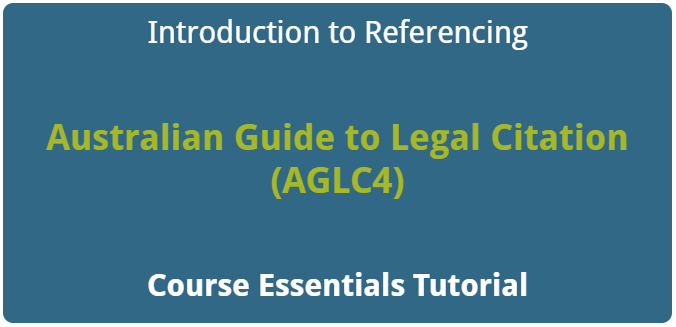 Introduction to Referencing - AGLC4