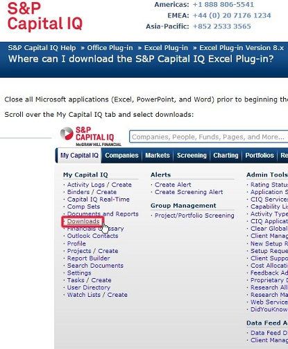 Excel Plug-in - S&P Capital IQ - LibGuides at Southern Cross