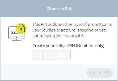 Choose a PIN information box