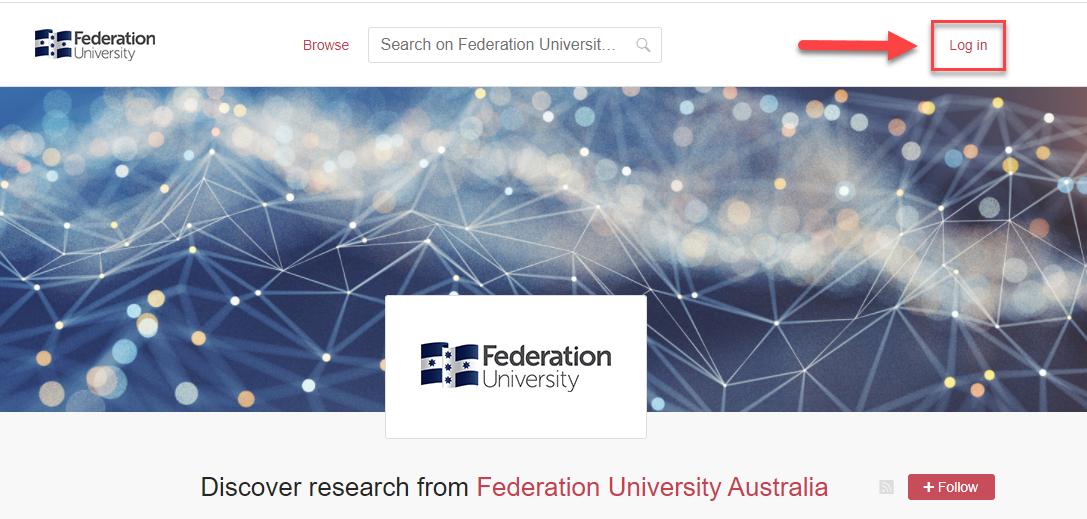 screenshot of Federation.figshare login page