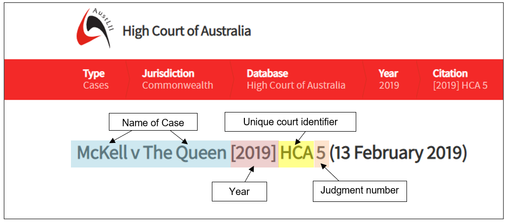 example of a legal case from the AustLii database