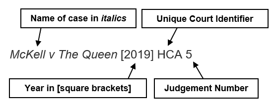 annotated reference example for a legal case