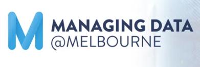 Managing Data @Melbourne