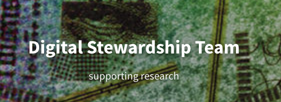 Digital Stewardship Team: supporting research
