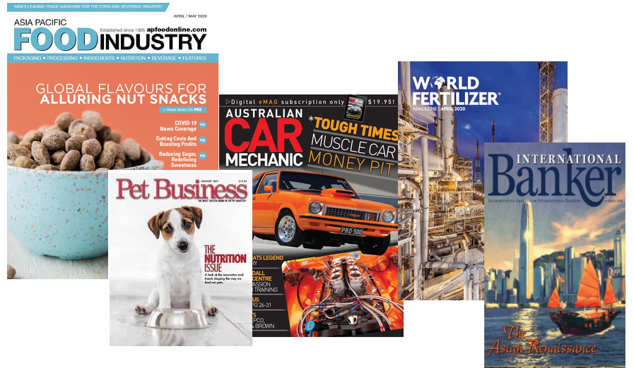 examples of trade magazine covers