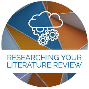 Researching your literature review icon
