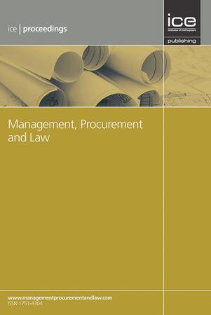Management, procurement and the law (journal cover image)