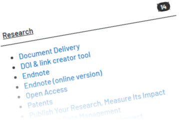 Image of the Research Library Guides directory