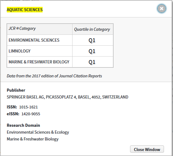 Journal Ranking Bio323 401 402 Research Skills Guide Library Resource Guides At Charles Sturt University