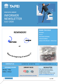 Informer Newsletter July 2020