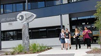 People walking through the entrance of USC Gympie
