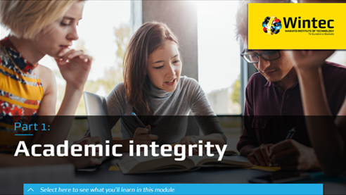 Click to increase your knowledge of academic integrity