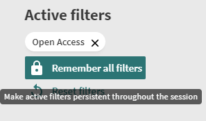 Remember filters for whole session