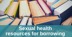 Sexual health resources for borrowing icon