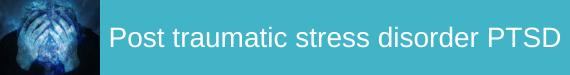 Post traumatic stress disorder PTSD subject icon