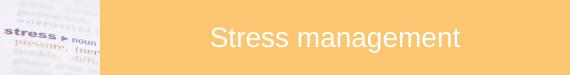 Stress management subject icon