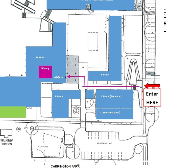 Young library location map