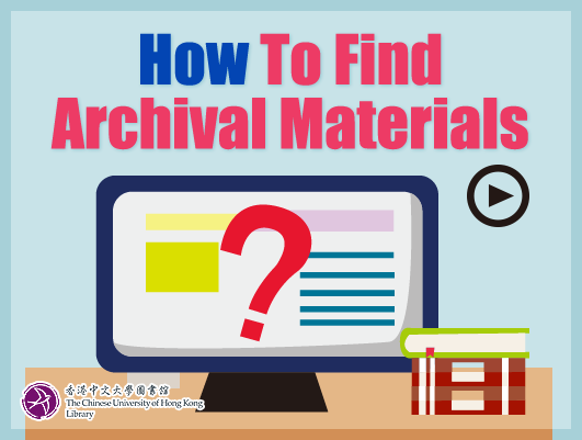 How to Find Archival Materials