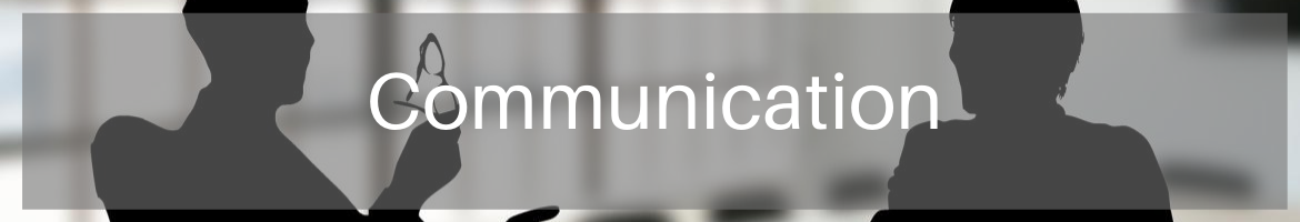 Communication header image