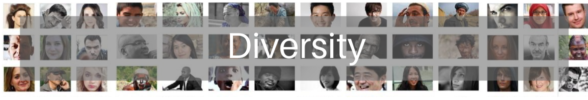 Diversity header image many faces