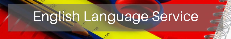 English Language Service header