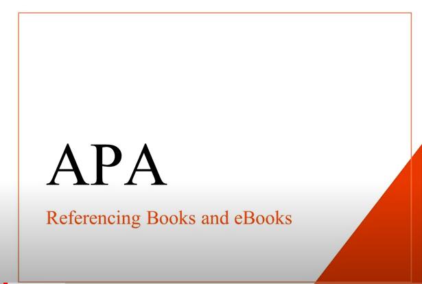 APA Books and ebooks