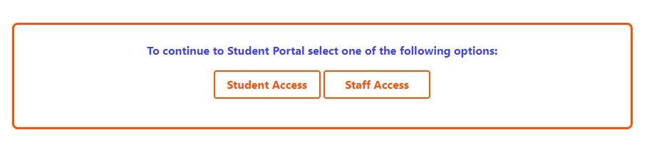Student Portal Login Buttons