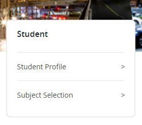 Student Menu List