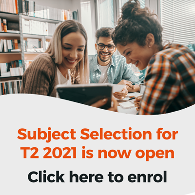 Subject Selection is now open