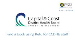 Find a book using Ketu - CCDHB users