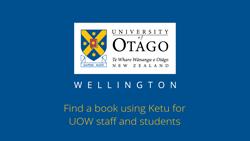 Find a book using Ketu - UOW users