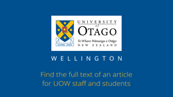 Find full text articles using Ketu - UOW users